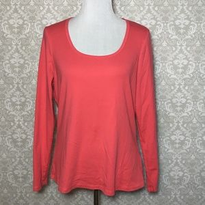 Boden Coral Pink Long Sleeve Tshirt WL762 Cotton